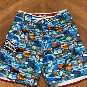 Billabong Size 34 Surf Swim Shorts Suit